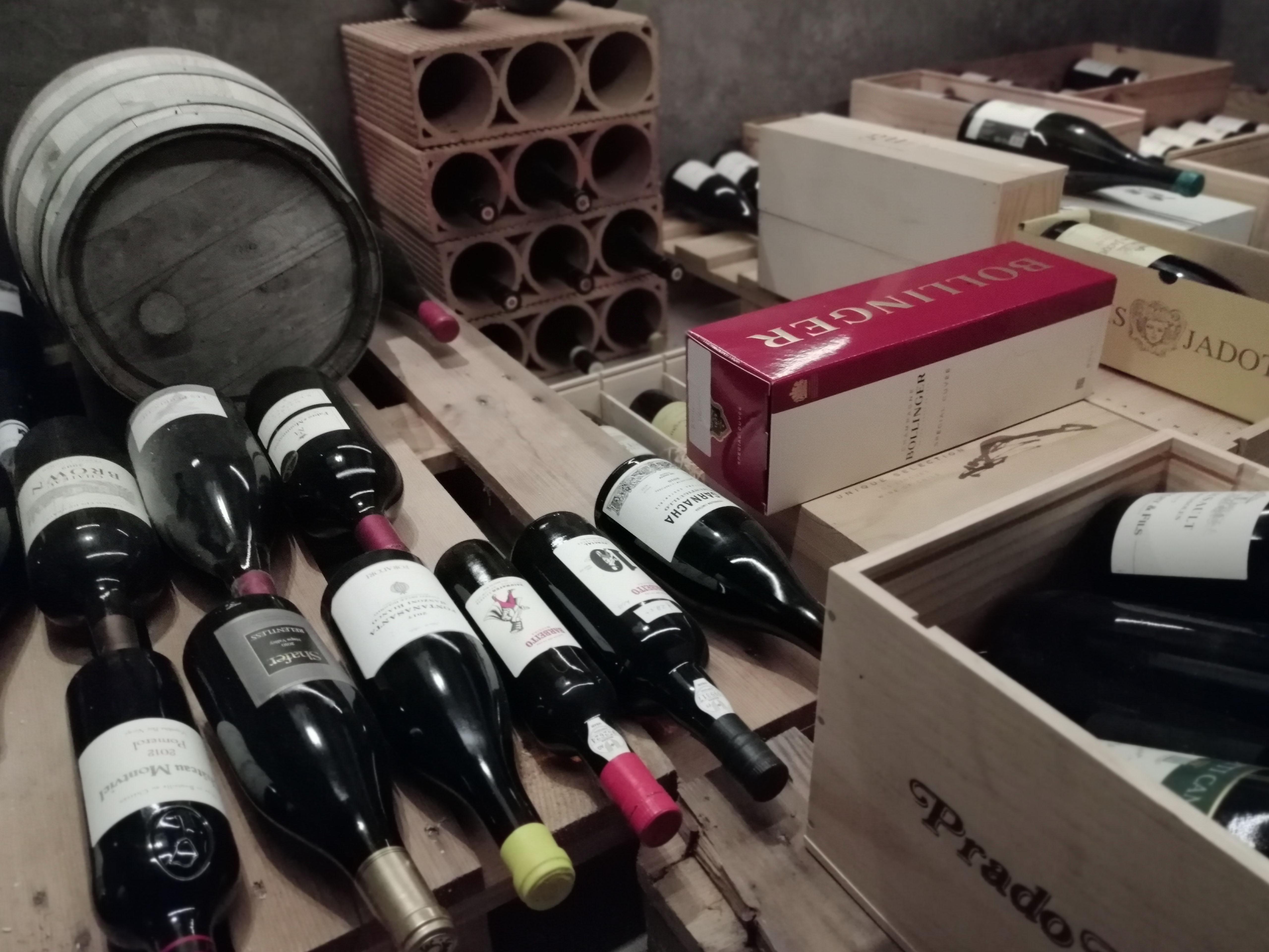 Met een doorkijkje in de wijnkelder